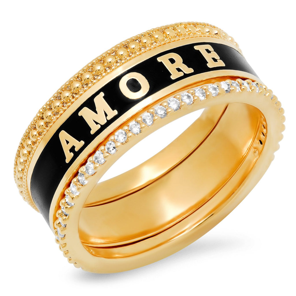 TAI Gold Plated and Brass Amore Ring