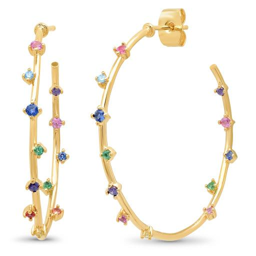 TAI Rainbow Hoop Earrings