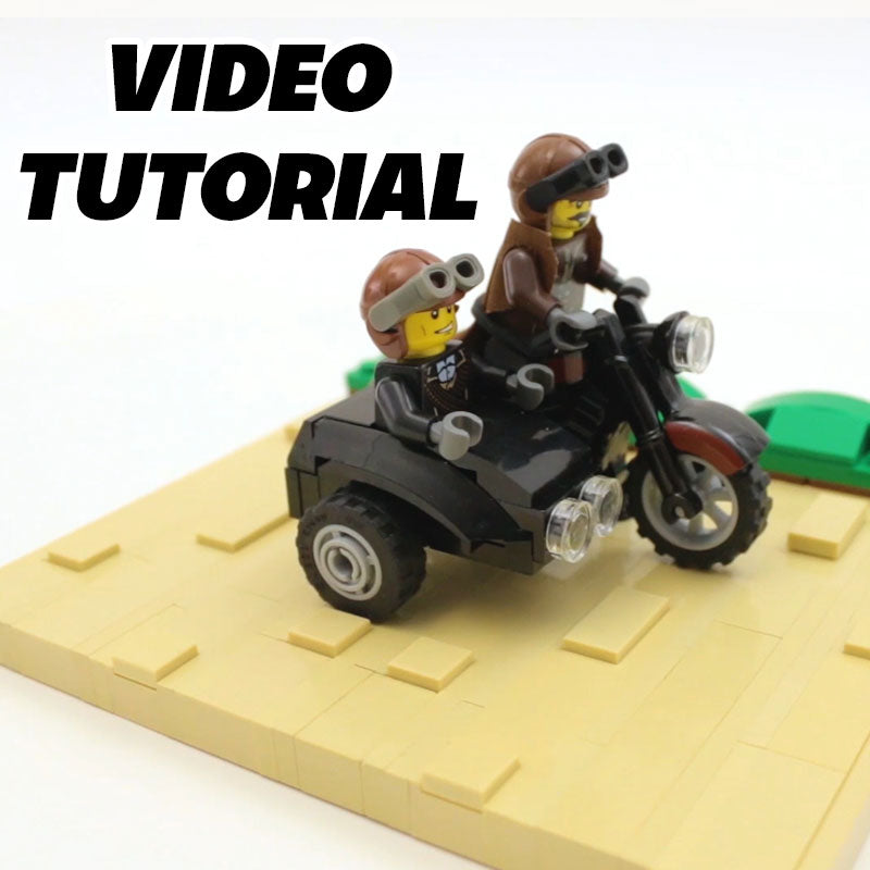 Video how to build a lego city motorcycle side car for How to build a side by side