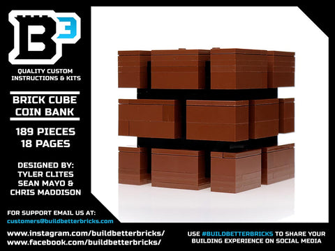 Instructions for Custom LEGO Brick Bank Box – Build Better