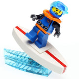 Custom LEGO Surfboard with Wave