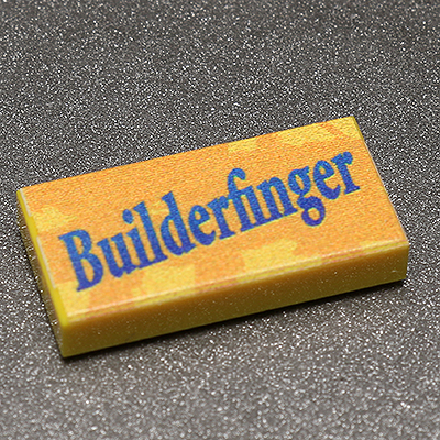 Builderfinger - Custom Printed LEGO 1x2 Tile