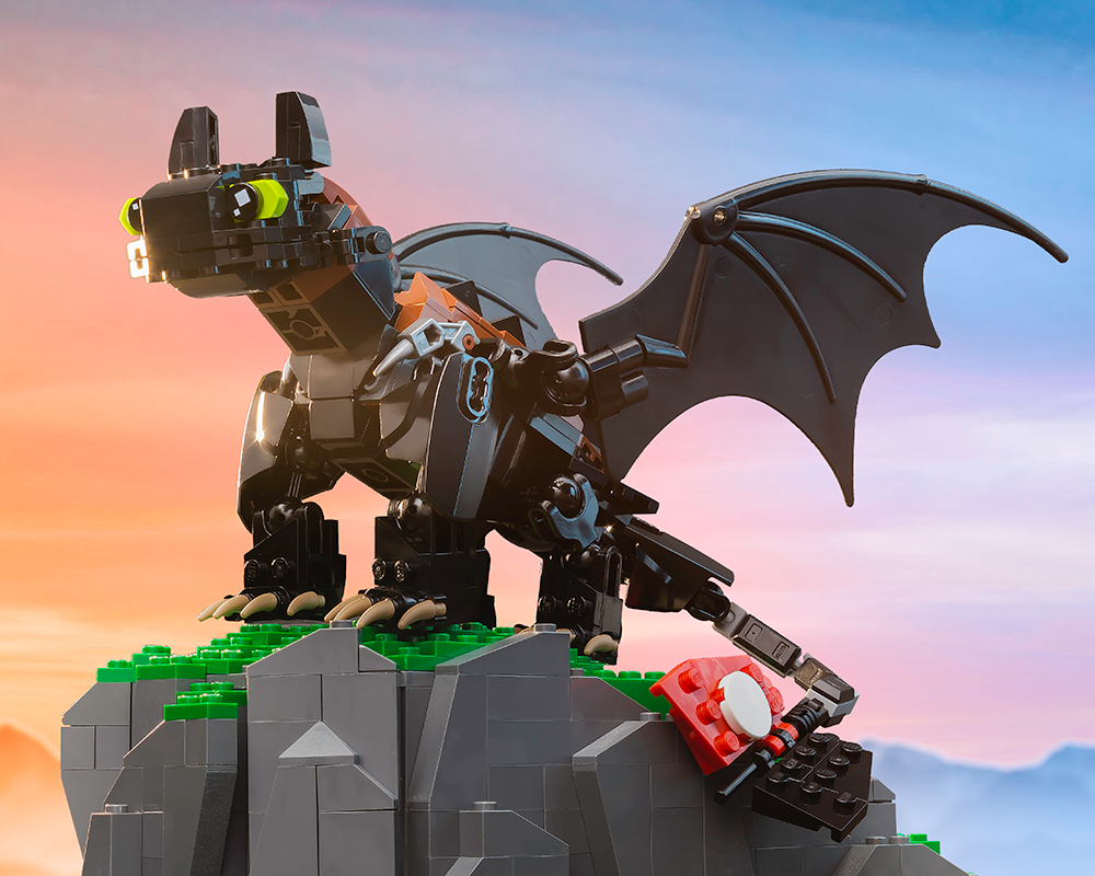 Instructions For Custom Lego Toothless Dragon How To Train Your Drago Build Better Bricks
