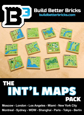 Custom LEGO International Maps Pack
