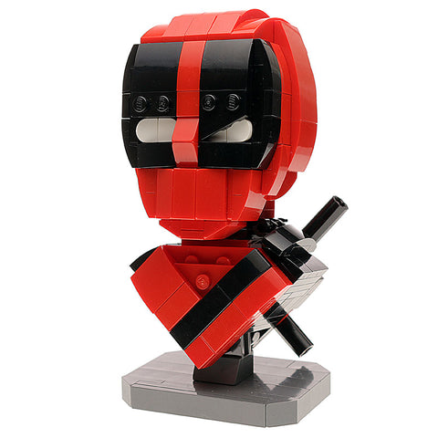Instructions for Custom LEGO Deadpool Bust