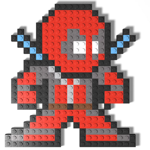 Custom LEGO Deadpool 8-Bit Mosaic Instructions