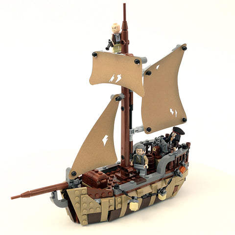 Custom Lego Pirates Of The Caribbean The Dying Gull Instructions