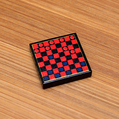 Checkers Board Game Tile