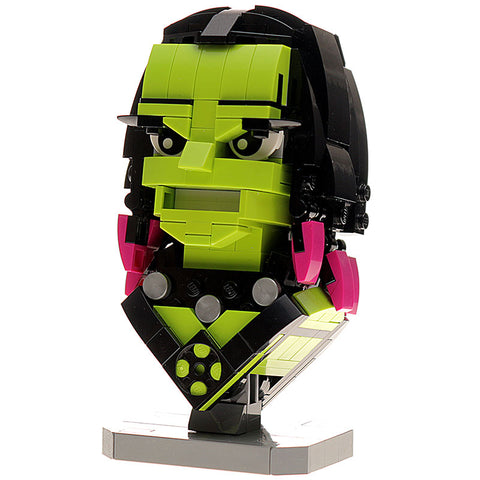Custom LEGO Gamora Bust Instructions