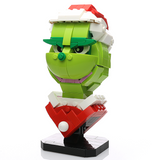 Instructions for Custom LEGO Grinch Bust