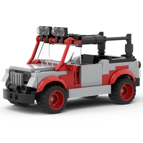 Instructions for Custom LEGO Jurassic Park Jeep