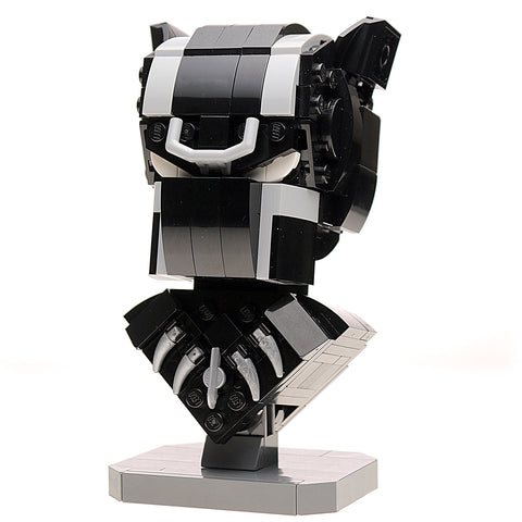 Instructions for Custom LEGO Black Panther Bust