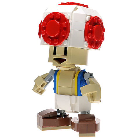 Custom LEGO Nintendo Toad Figure Instructions