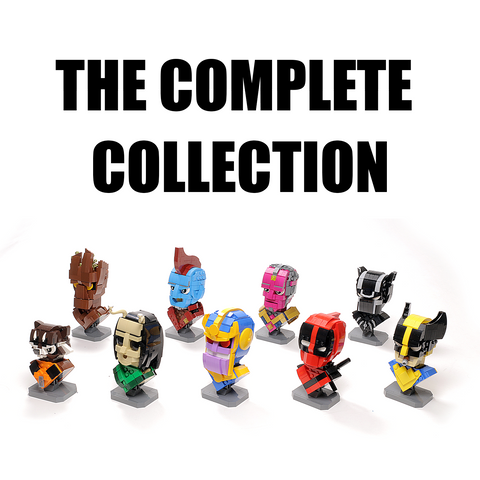 The Complete Custom LEGO Marvel Bust Instructions Collection (Set of 12)