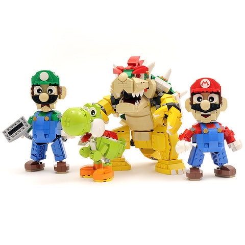 Bundle: Complete Custom LEGO Nintendo Character Collection (Set of 4)