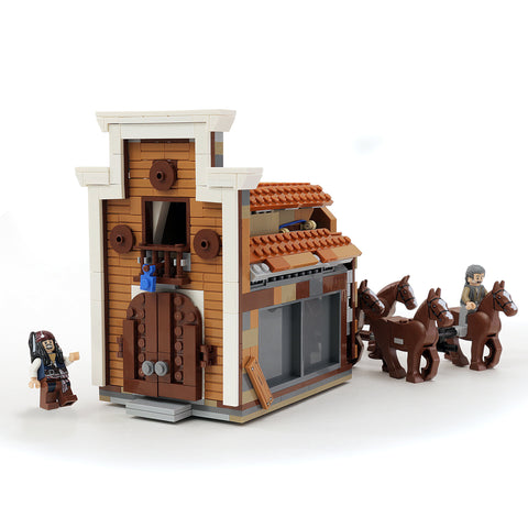 Custom LEGO Pirates of the Caribbean Bank Heist Instructions