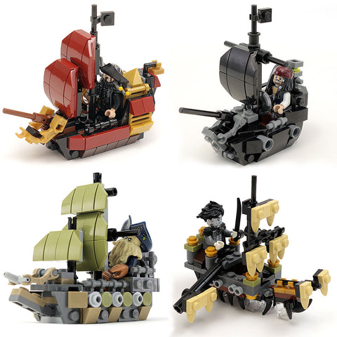 Instructions for Custom LEGO Pirates of the Caribbean Pirate Ships - All 4 for Lower Price