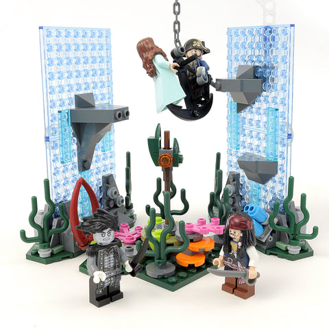 Custom LEGO Pirates of the Caribbean Poseidon's Trident Instructions