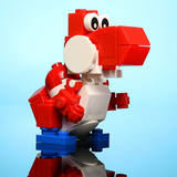 Friendly Red Dino - Custom LEGO Set
