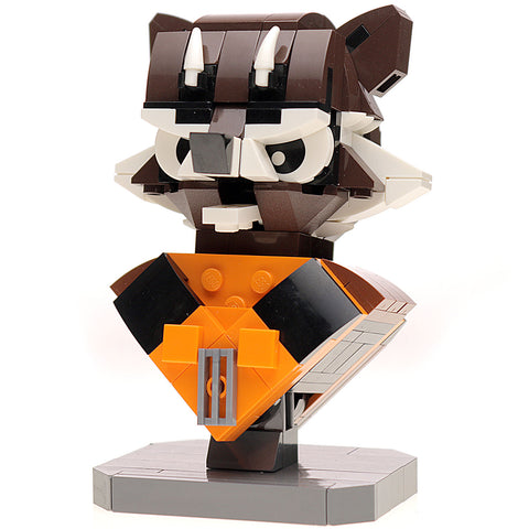 Instructions for Custom LEGO Rocket Raccoon Bust