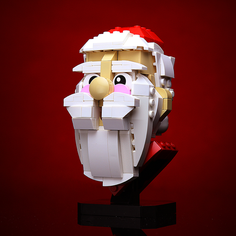 Instructions for Custom LEGO Santa Claus Bust