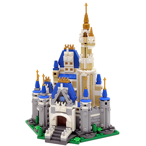 Mini Custom LEGO Disney Cinderellas Castle Instructions, Parts List