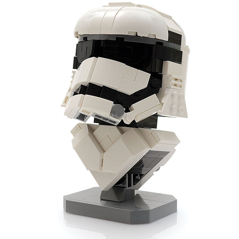 Custom LEGO Star Wars First Order Stormtrooper Bust Instructions, Parts List
