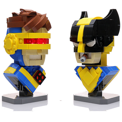 Bundle: Custom LEGO Wolverine vs. Cyclops Instructions