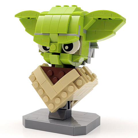 Custom LEGO Star Wars Yoda Bust Instructions, Parts List
