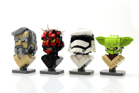 Instructions For Complete Wave 1 Of Our Custom Lego Star Wars Busts