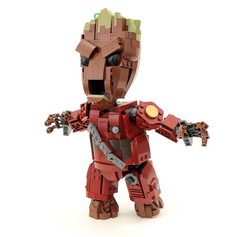 Custom LEGO Guardians of the Galaxy Life-Size Baby Groot Instructions