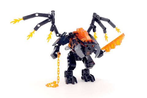 Custom Lego Lord Of The Rings Balrog Battle Instructions Build