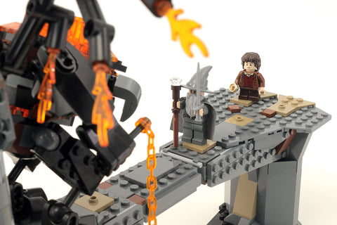 Custom LEGO Lord of the Rings Balrog Battle Instructions – Build ...