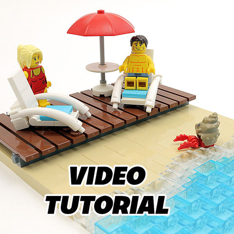 Video: How to Build LEGO Outdoor Beach Furniture