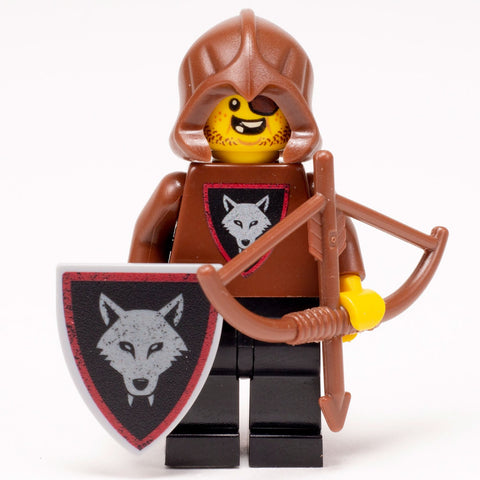 Bandit (Bow & Arrow) - Custom LEGO Castle Wolfpack Minifigure