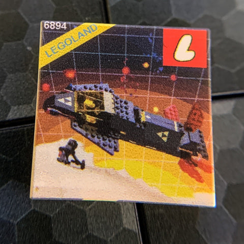 Invader Blacktron Set 6894 - Custom Printed LEGO 2x2 Tile