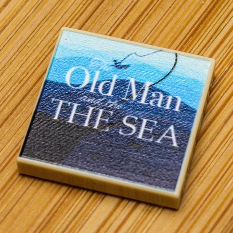 Old Man and the Sea - Custom LEGO Book (2x2 Tile)