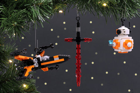 Custom LEGO Star Wars The Force Awakens Christmas Tree Ornaments Instructions, Parts List