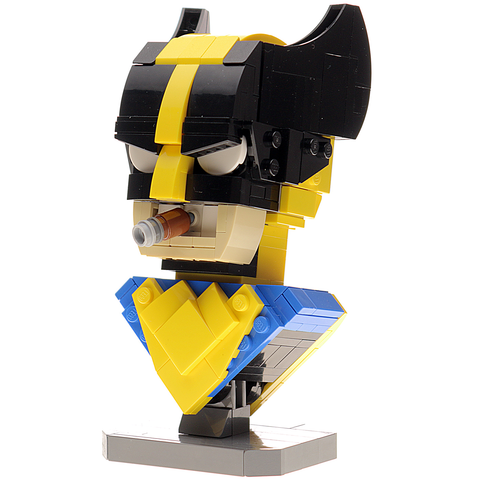 Custom LEGO Wolverine Bust Instructions