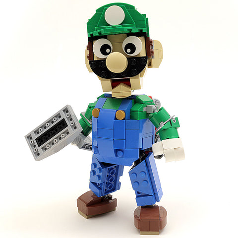 Instructions/Parts List for Custom LEGO Nintendo Luigi Figure
