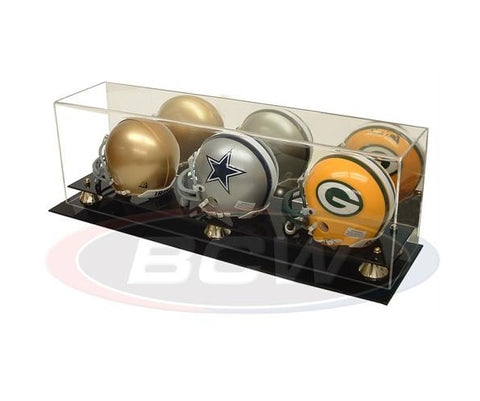 Acrylic Triple Mini Helmet Display