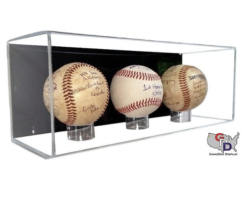 Image of Acrylic Wall Mount 3 Baseball Display Case