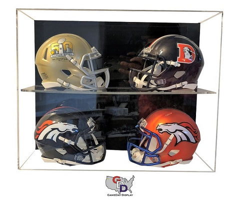 Acrylic Wall Mount 4 Mini Helmet Display Case