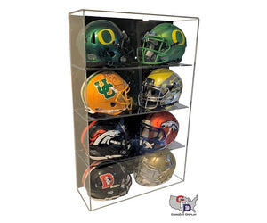 Acrylic Wall Mount 8 Mini Helmet Display Case