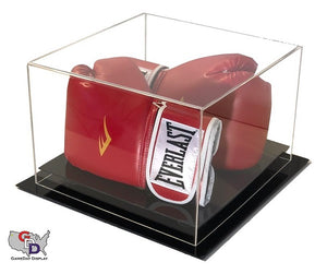 Acrylic Desk Top Double Boxing Glove Display Case