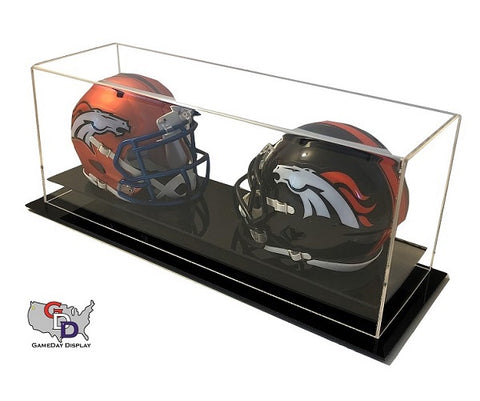 Acrylic Desk Top Double Mini Helmet Display Case