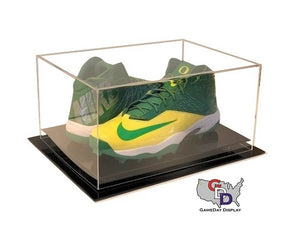 Acrylic Desk Top Large Shoe Pair Display Case - Size 17 and Under