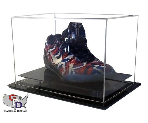 Acrylic Desk Top Small Shoe Display Case - Size 11.5 and Under