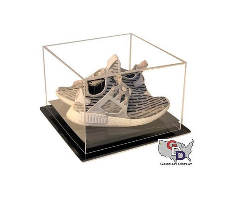 Image of Acrylic Desk Top Small Shoe Pair Display Case - Size 11 and Under