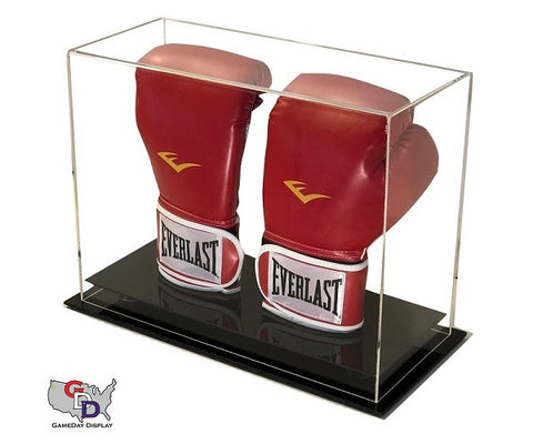 Acrylic Desk Top Vertical Double Boxing Glove Display Case